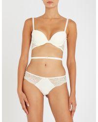Simone Perele Eden Multi-strap Lace And Jersey Bra - White