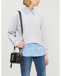 Claudie Pierlot Taipei Embellished-collar Cotton-blend Sweatshirt - Gray