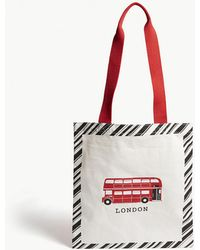 Alice Tait - London Bus Cotton Canvas Shopper - Lyst