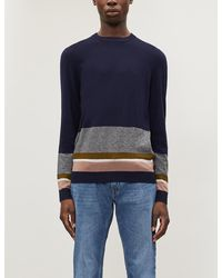 Ted Baker Colour-block Knitted Jumper - Blue