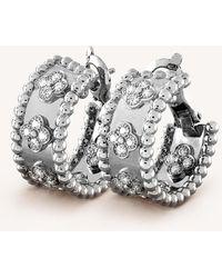 Van Cleef & Arpels - Perlée Clovers Gold And Diamond Earrings - Lyst