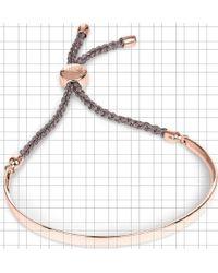 Monica Vinader - Fiji 18ct Rose Gold-plated Friendship Bracelet - Lyst