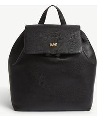 MICHAEL Michael Kors - Michael Kors Black Junie Pebbled Leather Backpack - Lyst
