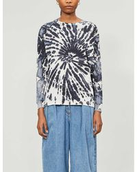TOPSHOP Tie Dye Long Sleeve By Boutique - Blue