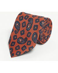 Eton of Sweden - Paisley Print Wool Tie - Lyst