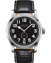 Longines - L2.811.4.53.0 Heritage Stainless Steel And Leather Watch - Lyst