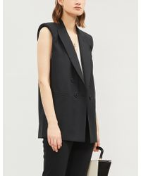 Ba&sh Women's Black Stanley Double-breasted Crepe Waistcoat