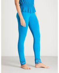 La Perla - Lapis Lace Stretch-jersey Trousers - Lyst