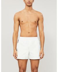 Gucci Striped-trim Relaxed-fit Swim Shorts - White