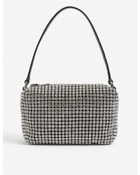 Alexander Wang Heiress Medium Crystal-embellished Pouch - White