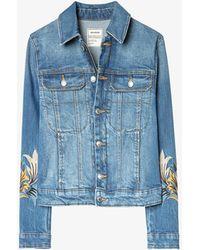 Zadig & Voltaire Kioky Denim Jacket - Blue