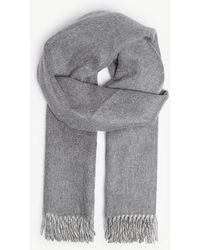 Johnstons - Reversible Cashmere Scarf - Lyst
