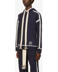 Loewe Anagram Cotton-jersey jogging Bottoms - Blue