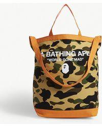 A Bathing Ape 1st Camo Canvas Tote - Multicolor