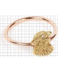 Annina Vogel 9 Carat Rose Gold And Diamond Chick Ring - Metallic