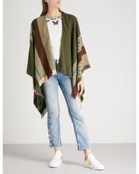 Maje - Oversized Wool-blend Stripe Scarf - Lyst