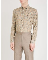 Eton of Sweden - Circle-pattern Slim-fit Cotton Shirt - Lyst