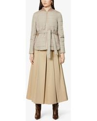 Brunello Cucinelli - Belted Quilted Shell Jacket - Lyst