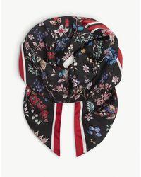 Erdem Hogarth Floral-print Silk Scarf - Black