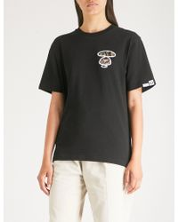 Aape - Branded Cotton-jersey T-shirt - Lyst