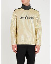 Stone Island - Iridescent Logo-print Shell Sweatshirt - Lyst
