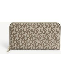 DKNY Bryant Textured Leather Zip-around Purse - Multicolour