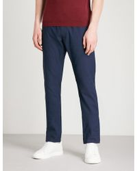 Jacob Cohen Relaxed-fit Wool-blend Jogging Bottoms - Blue