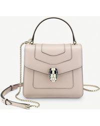 BVLGARI Serpenti Forever Leather Small Crossbody Bag - Pink