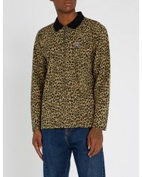 Obey - Leopard-print Cotton-jersey Top - Lyst