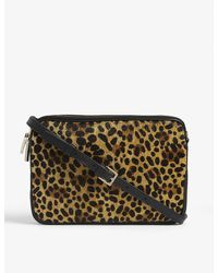 Whistles Cami Leopard-print Leather Cross-body Bag - Multicolor