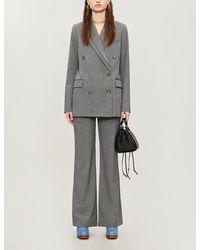 Designers Remix Radley Double-collar Woven Blazer - Grey