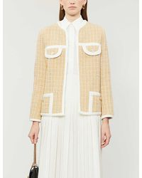 Sandro Mielle Tweed Blazer - Natural