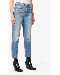 Rag & Bone Maya Distressed Straight-leg High-rise Jeans - Blue