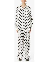 Sleeper Polka-dot Print Pyjama Set - White