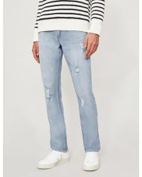 PAIGE - Lennox Ripped Skinny Jeans - Lyst