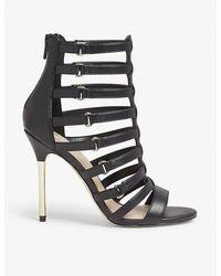 ALDO Unaclya Caged Faux-leather Heel Sandals - Black