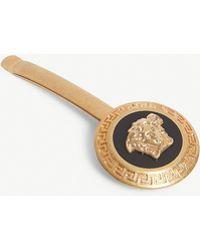 Versace Gold-toned Medusa Emblem Bobby Pin - Metallic