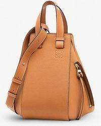 Loewe - Light Caramel Brown Hammock Small Leather Handbag - Lyst