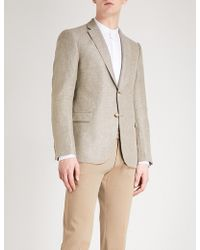 Armani - Modern-fit Linen And Wool-blend Jacket - Lyst