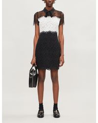 Sandro Rozen Lace-panel Dress - Black