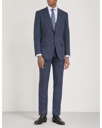 Gieves & Hawkes | Herringbone-check Regular-fit Wool Suit | Lyst