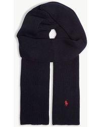 Polo Ralph Lauren - Embroidered Logo Merino Wool Scarf - Lyst