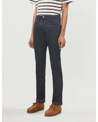 Ted Baker Tapered Stretch-denim Jeans - Gray