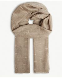 Jane Carr The Loom Wrap Cashmere Scarf - Natural