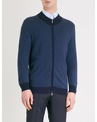 Canali - Patterned Knitted Jumper - Lyst