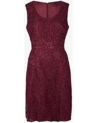 Beyond Retro Pre-loved Sleeveless Lace Mini Dress - Purple