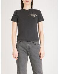 Yeezy Calabasas-print Cotton-jersey T-shirt - Black