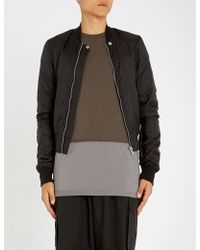 Rick Owens Drkshdw - Cropped Shell Bomber Jacket - Lyst