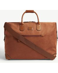 Bric's Logo Embossed Faux-suede Holdall - Brown