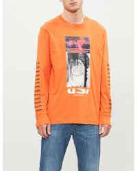 DIESEL - Long-sleeve T-shirt With Print - Lyst